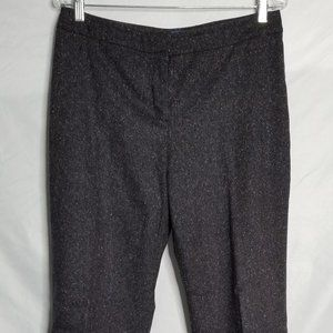 Pendleton Wool Tweed Pants Gray Black Flecked Sz 8